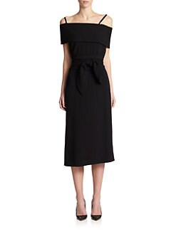 J.W. Anderson - Off-The-Shoulder Band Dress