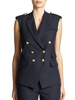 Band of Outsiders - Raw-Edge Military Vest
