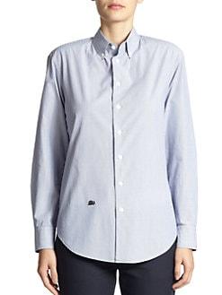 Band of Outsiders - Fine-Stripe Boyfriend Shirt