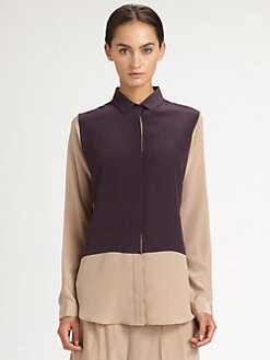 Neil Barrett - Silk Colorblock Shirt