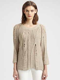 Tess Giberson - Disintegrating Cable Sweater