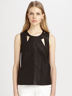 Tess Giberson - Reassembled Leather Top
