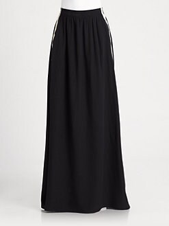 Neil Barrett - Side Stripe Silk Skirt