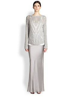 Tess Giberson - Metallic Open-Stitch Sweater