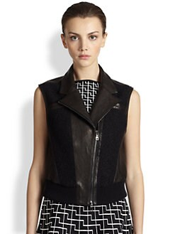Ohne Titel - Leather & Boucle Vest