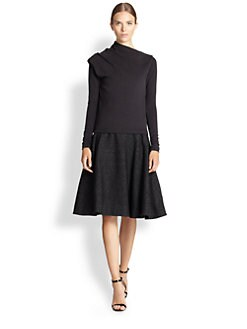 J.W. Anderson - Speckled Wool A-Line Skirt