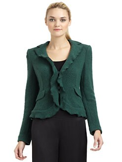 Giorgio Armani - Ruffled Wool Blend Jacket