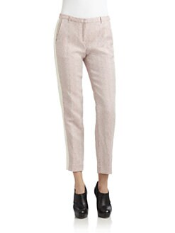 Costume National - Houndstooth Tuxedo Pants