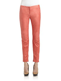 Costume National - Leather Skinny Pants