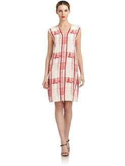 Costume National - Silk Abstract Shift Dress