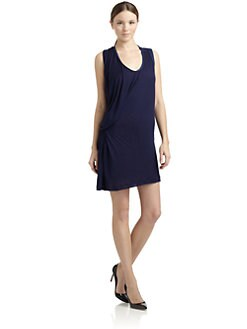 Costume National - Asymmetric Draped Jersey Dress