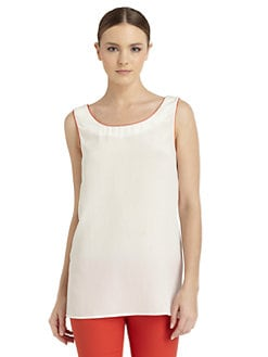 Costume National - Scoopneck Silk Tank Top