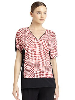 Costume National - Herringbone Print Tee