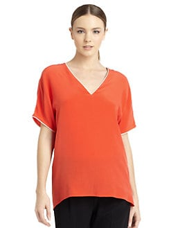 Costume National - Silk Contrast Trim Blouse