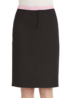 Costume National - Contrast Waist Pencil Skirt