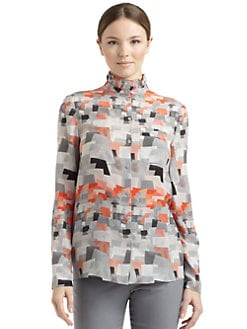 Cacharel - Silk Geometric Print Blouse