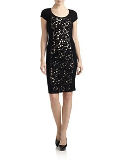 Moschino Cheap And Chic - Crochet Panel Wool Dress