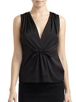 Moschino Cheap And Chic - Bow-Front Gathered Blouse