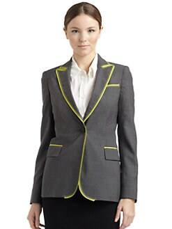 Moschino Cheap And Chic - Neon-Trim Blazer