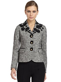 Moschino Cheap And Chic - Tweed Floral Embroidered Blazer