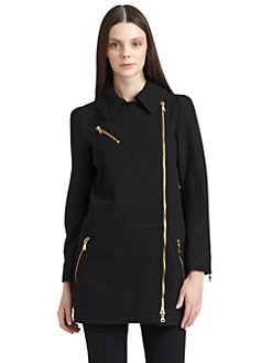 Moschino Cheap And Chic - Zip-Detailed Car Coat