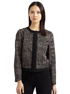 MaxMara - Printed Twill Short Jacket