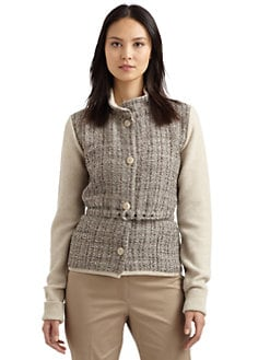 MaxMara - Tweed Sweater-Jacket