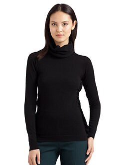 MaxMara - Funnelneck Ruffle-Trim Sweater