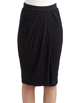 MaxMara - Drape-Front Skirt
