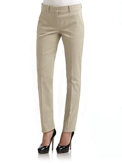 'S MaxMara - Stretch Cotton Slim Chino Pants