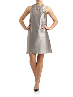 Calvin Klein Collection - Metallic Woven Sheath Dress