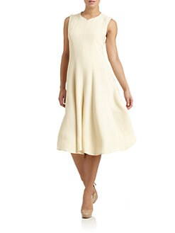 Calvin Klein Collection - Crepe Seamed Dress