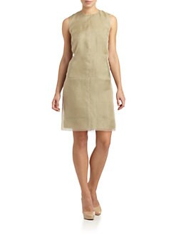 Calvin Klein Collection - Silk Chiffon Sheath Dress