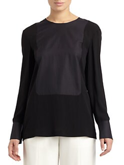 Calvin Klein Collection - Silk & Cotton Blouse