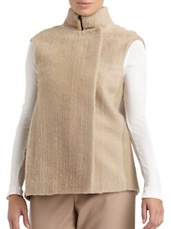 Calvin Klein Collection - Shearling Zip Vest