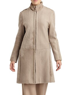 Calvin Klein Collection - Shearling Zip Front Coat