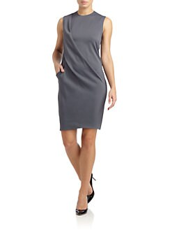 Calvin Klein Collection - Satin Draped Dress