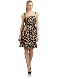 Moschino Cheap And Chic - Animal Print  Silk/Cotton Dress
