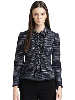 Moschino Cheap And Chic - Embellished Sparkly Tweed Jacket