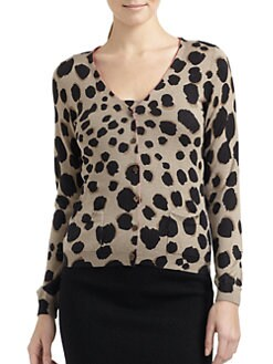 Moschino Cheap And Chic - Silk & Cashmere Leopard-Print Twin Set