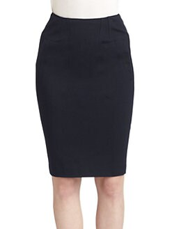 Moschino Cheap And Chic - Seam-Detailed Knit Skirt