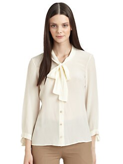 Moschino Cheap And Chic - Scarf Tie Crepe Blouse