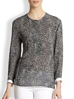 Calvin Klein Collection - Dot-Print Blouse