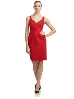 Moschino Cheap And Chic - Pleat-Detailed Doubleknit Dress/Red