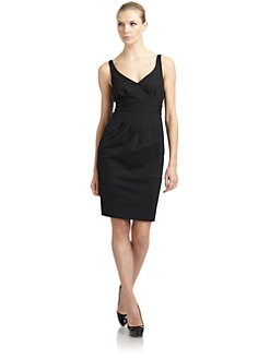 Moschino Cheap And Chic - Pleat-Detailed Doubleknit Dress/Black