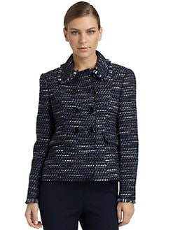 Moschino Cheap And Chic - Boucle Knit Blazer