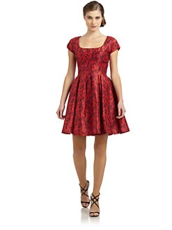 Zac Posen - Leopard Print Flare Dress
