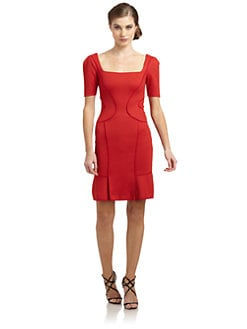 Zac Posen - Bonded Squareneck Dress