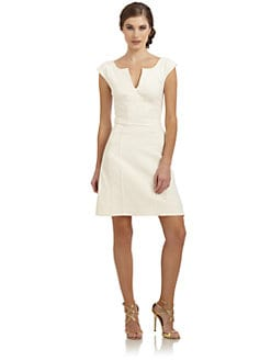Zac Posen - Split Neck Sheath Dress