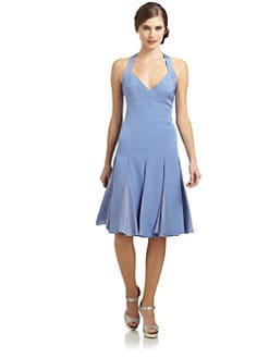 Zac Posen - Flared Halter Dress